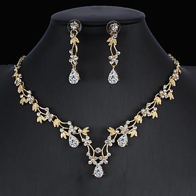 Frauen Afrikanische Blume Schmuck Sets Vergoldete Ohrringe Halskette Sets NG