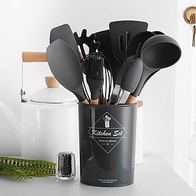povoljno Kuhinja i objedovanje-Pribor za kuhanje Silicon Heatproof Setovi za kuhanje 1set