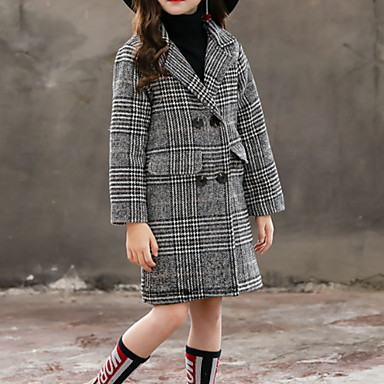 cheap Baby & Kids-Kids Girls' Basic Solid Colored Jacket & Coat Gray