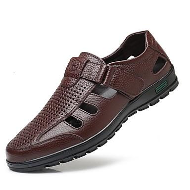 abordables Nouveautés-Homme Chaussures de confort Polyuréthane Printemps été Sandales Noir / Marron