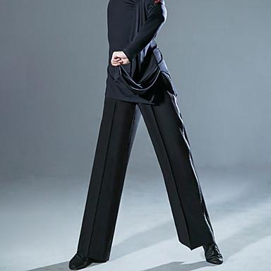 povoljno Odjeća i obuća za ples-Latino ples Hlače Nabori Muškarci Seksi blagdanski kostimi Prirodno POLY