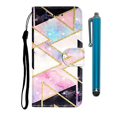 Case For Samsung Galaxy S10 / S10 Plus / S10 E Wallet / Card Holder / with Stand Diamond-Shaped Grid PU Leather / TPU for A10s / A20s / A50(2019) / A70(2019) / A90(2019) / Note 10 Pro / A51