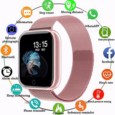billige Smykker & Klokker-Smartklokke Digital Luksus Vannavvisende Silikon Digital - Rose Gull Svart / Sølv Svart / Svart / Pulsmåler