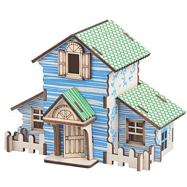 Παζλ 3D Ξύλινα παζλ Ξύλινα μοντέλα Kit de Construit Σπίτια Μόδα Σπίτι Κλασσικό Μόδα Νεό Σχέδιο Φτιάξτο Μόνος Σου Hot Πώληση Ξύλο 1pcs
