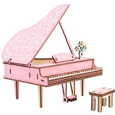 3D-pussel Träpussel Modellbyggset Piano GDS (Gör det själv) Simulering Trä Europeisk Stil Pojkar Flickor Leksaker Present