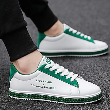 cheap Summer 2020-Men's Comfort Shoes Microfiber Fall & Winter Sneakers Black / Green / Red