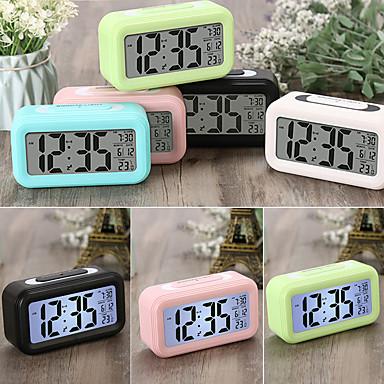 billige Forbrukerelektronikk-ledet digital vekkerklokke elektroniske smarte klokker temperatur& kalender snooze-funksjon vekkerklokke hjemmebord bakgrunnsbelysning display