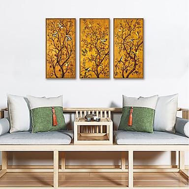 cheap Framed Arts-Framed Art Print Framed Set - Animals Floral / Botanical PS Oil Painting Wall Art