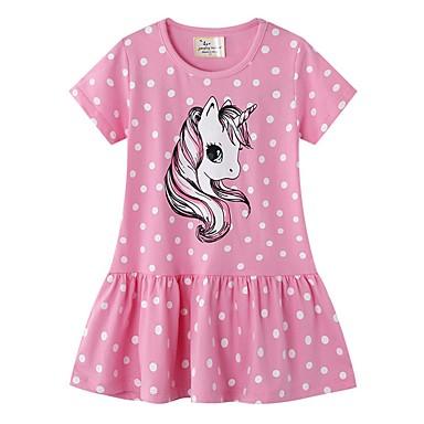 povoljno Odjeća za djevojčice-Djeca Djevojčice Na točkice Haljina Blushing Pink