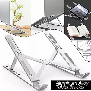 cheap Computer Peripherals-Aluminum Alloy Tablet Bracket Mount Foldable Portable Laptop Stand