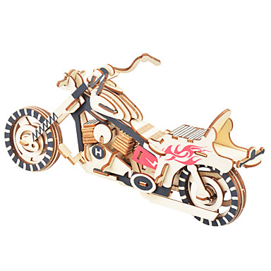 cheap Wooden Puzzles-3D Puzzle Jigsaw Puzzle Wooden Model Bicycle DIY Wooden Natural Wood Unisex Toy Gift