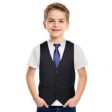 Bambini Ragazzi Manica Corta A Manica Lunga Bianco o Blu Camicia School Uniform