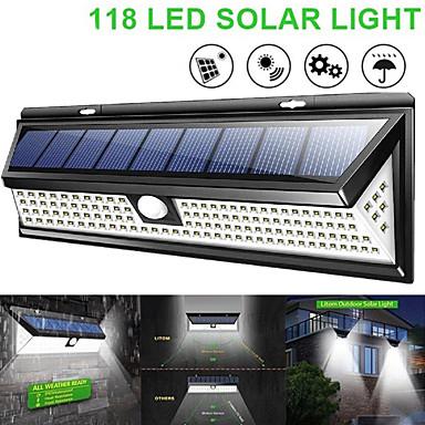 cheap Electrical Equipment & Supplies-WAZA SOLAR LAMP 118 LED PIR MOTION SENSOR LAMP OUTDOORS IP65 WATERPROOF SOLAR GARDEN LIGHTS EMERGENCY SECURITY LIGHT SOLAR WALL LAMP
