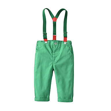 cheap Baby Boys' Bottoms-Baby Boys' Basic / Street chic Solid Colored Overall & Jumpsuit Red