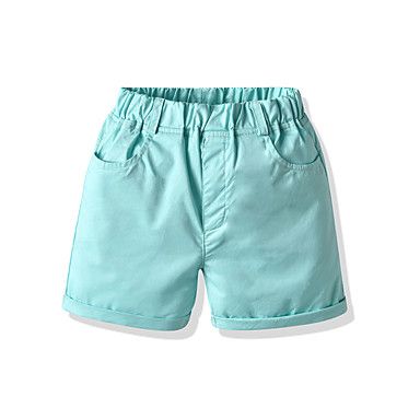cheap Baby & Kids-Kids Boys' Basic Street chic Solid Colored Shorts Light Green