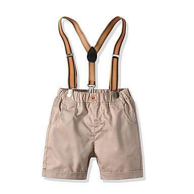 cheap Baby Boys' Bottoms-Baby Boys' Basic Solid Colored Shorts Khaki