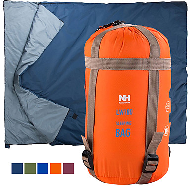 cheap Sleeping Bags & Camp Bedding-Naturehike Mini-Ultralight Sleeping Bag Outdoor Camping Envelope Rectangular Bag 15 °C Single for 1 Person Imitation Silk Cotton Portable Rain Waterproof Warm Ultra Light Compression 190*75 cm Spring