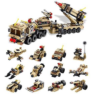 cheap Building Blocks-ENLIGHTEN Building Blocks Minifigures Educational Toy Construction Set Toys Building Bricks Military Warrior Castle Building Toys Boys' Girls' Toy Gift / Kid's
