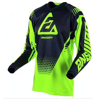 2018 new summer men's and women's mountain bike cycling top mountain bike cross-country motorcycle Jersey speed reduction and ventilation