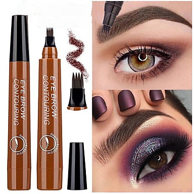 cheap Makeup & Skin Care-Four Heads Liquid Eyebrow Pencil Black Brown Waterproof Lasting Color Fade Eyebrow Makeup Cosmetics