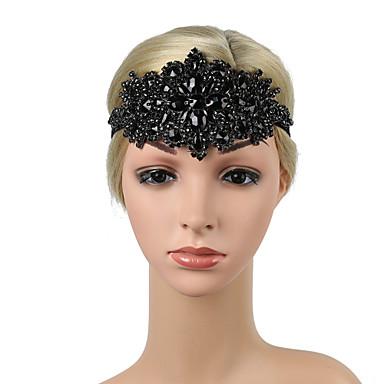povoljno Party pokrivala za glavu-Retro Tradicionalni / klasični Rastegnute prugice / Platno Headpiece s Uzde / Blistati / Kristalni detalji 1 / kutija Vjenčanje / Karneval Glava
