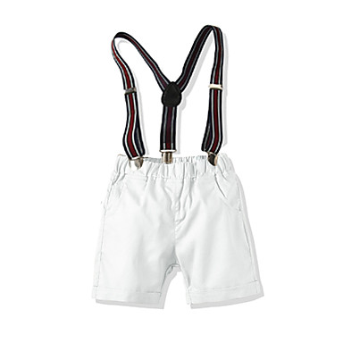 Baby & Kids-Kids Toddler Boys' Basic Street chic Solid Colored Shorts White