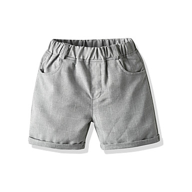 Baby & Kids-Kids Toddler Boys' Basic Street chic Striped Shorts White