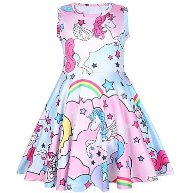 رخيصةأون يوم الطفل سعيد ل-فستان ورد / آحادي القرن / حيوان للفتيات أطفال