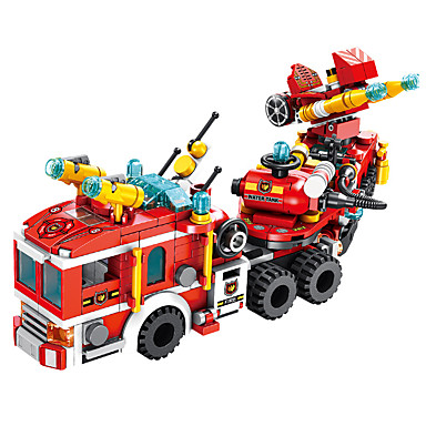 cheap Building Blocks-Building Blocks 557 pcs Vehicles compatible ABS+PC Legoing Simulation Fire Engine Vehicle All Toy Gift / Kid's