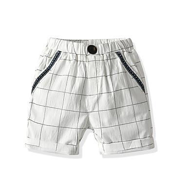 Baby & Kids-Kids Toddler Boys' Basic Street chic Houndstooth Shorts White