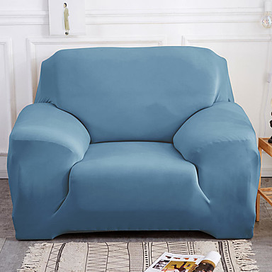 cheap Slipcovers-Home Basic Solid Dustproof All-powerful Slipcovers Stretch Sofa Cover Super Soft Fabric Couch Cover with One Free Pillow Case