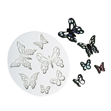 cheap Bakeware-different shape butterfly pattern chocolate mold fondant cake silicone mold home baking tools