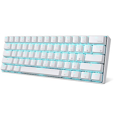 cheap Keyboards-RK ROYAL KLUDGE RK61 Wireless Bluetooth USB Wired Dual Mode Mechanical Keyboard Gaming Keyboard RK Switches Mini Size Rechargeable Monochromatic Backlit / Blue Backlit 61 pcs Keys