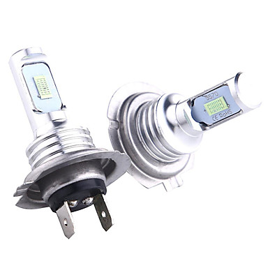 cheap Car Lights-2pcs LED CSP Mini H7 LED Lamps For Cars Headlight Bulbs H7 led H11 Fog Light 9005 Ice Blue Auto 12-24V