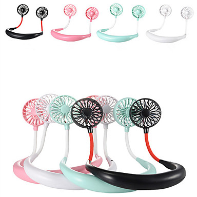 cheap Electrical & Tools-1200 mA  USB Portable Fan Hands-free Neck Fan Hanging Rechargeable Mini Sports Fans 3 gears Air Conditioner Adjustable Home