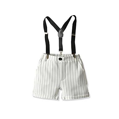 Baby & Kids-Kids Boys' Basic Street chic Striped Shorts White