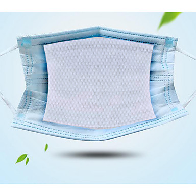 cheap Personal Protection-1 Pack 100 Pcs Face Gasket Disposable Activated Carbon Filter Replacement Filter Mats Skin-friendly Breathable PM 2.5 Filter