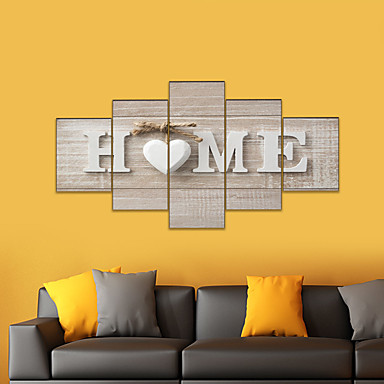 cheap Prints-AMJ hot sale five paintings living room sofa background wall decoration canvas painting frameless painting core