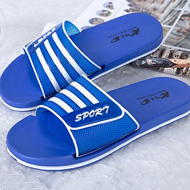 cheap Men's Slippers & Flip-Flops-Men's PU Spring & Summer Casual Slippers & Flip-Flops Color Block Green / Blue / Royal Blue