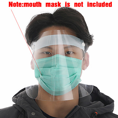 cheap Personal Protection-1PCS Transparent Anti Splash Dust-proof Protect Full Face Covering Helmet Visor Shield Stop the Flying Spit Anti Droplet
