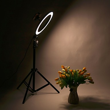 cheap Camera & Photo-Photography led self timer ring light 30cm metal dimmable photography / mobile phone ring light with 210cm tripod for makeup video studio