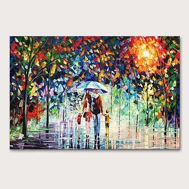 cheap Oversized Painting-Mintura Large Size Hand Painted Abstract Knife Landscape Oil Paintings on Canvas Pop Art Wall Pictures For Home Decoration No Framed