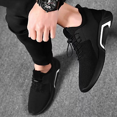 cheap Under $12.99-Men's Spring Outdoor Trainers / Athletic Shoes Mesh White / Black