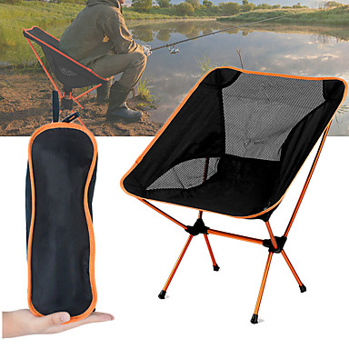 cheap Camping, Hiking & Backpacking-Camping Chair Multifunctional Portable Breathable Ultra Light (UL) Aluminium Alloy 7005 Mesh Oxford for 1 person Fishing Beach Camping Travel Autumn / Fall Spring Dark Blue Navy Blue Fuchsia