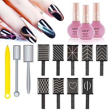 cheap Nail Tools & Equipments-12pcs Metal UV Gel For Finger Nail Toe Nail Multi-Type / Creative nail art Manicure Pedicure Fashion Daily