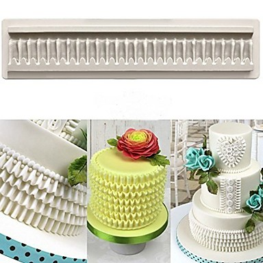 cheap Baking & Pastry Tools-DIY Baking Three-Dimensional Lace Trimming Silicone Mold Skirt Cake Decoration 1pc