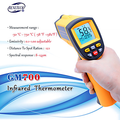 Digital laser infrared thermometer Non-Contact LCD IR Infrared Thermometers Gun GM700 -50 to 750 Celsius Temperature Meter