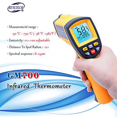 Termòmetre amb infrarojos làser digital sense contacte LCD IR amb termòmetre infrarojos GM700 -50 a 750 centímetres de temperatura