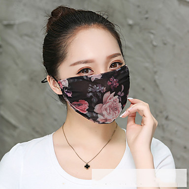 cheap Balaclavas & Face Masks-Dust Proof Durable Protection Antivirus PM2.5 Protection Bike / Cycling White / Pink Pink Black for Adults' Everyday Use Traveling Outdoor Flower 1 Piece
