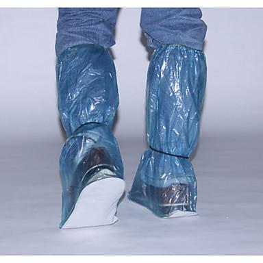 Plastic PVC Transparent Shoe Cover Waterproof Outdoor Red / Blue / Khaki